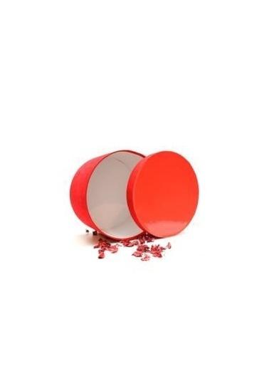 Fakir Kırmızı Yuvarlak Hediye Kutusu No:2 Renkli